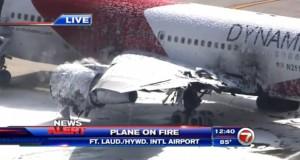 اشتعال النار في طائرة قبل إقلاعها بفلوريدا
